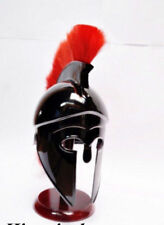 Greek Corinthian Helmet with Red Plume Armor Roman Spartan Armour Helmet-Replica