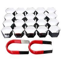 20pcs 17mm Car Plastic Caps Bolts Covers Nuts Alloy Wheel For Skoda, Audi, E7S4