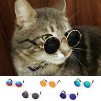 Hot Small Cat Dog Sunglasses Glasses Costume Pet Toy Kitten Outfit Clothes Funny