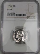 GEM Proof 1955 US Jefferson Nickel. NGC PF68.  #2