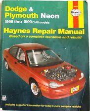 New listing Haynes Dodge and Plymouth Neon 1995 Thru 1999 Repair Manual - Pn 30034