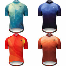 Miloto Men's Cycle Clothing Tops Short Sleeve Cycling Jersey Bicycle Shirt S-5XL