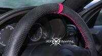 Perforiert Leder Lenkrad Abdeckung für Mercedes SLK R170 96+ Pink Riemen