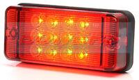 WAS W83D 12V 24V RECTANGULAR COMPACT LED FOG LAMP LIGHT TRAILER KIT CAR CARAVAN