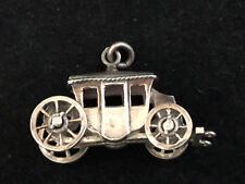 Carrosse Argent Massif Vintage  Antique Silver Pendentif Breloque
