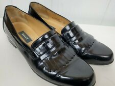 Bally Shoes size 8.5 Men's Barton Kiltie Black Leather Loafers