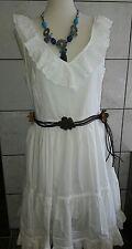 ORSAY Kleid weiß Baumwollkleid Sommerkleid *Gr. 36/38* Boho Empire IBIZASTYL Neu