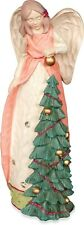 Angel Christmas Tree Figurine Holiday Xmas Decoration Crystals Pink Gold 52777