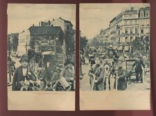 Germany BERLIN c1910? x6 cards street views 5 plain back 1 PPC