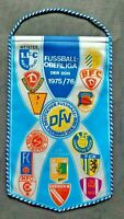 Orig. Wimpel DDR Oberliga 1975/76 Fussball Jahreswimpel Jena Magdeburg Chemie