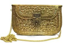 Handmade Women Girl Bridal bags Metal clutches Vintage Bag Brass Party Sling Bag