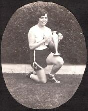 1929 VERMONT SCHOOL LOS ANGELES CALIFORNIA GIRL SPORTS BASKETBALL TROPHY PHOTO