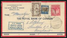 Mayfairstamps Colombia 1935 Mancomun to England Airmail Medellin Cover wwp79693