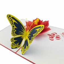 Butterfly with Flower 3d pop up card