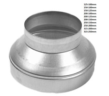 More details for metal extraction fan galvanized aluminium ducting reducers ventilation pipe