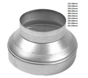 Metal Extraction Fan Galvanized Aluminium Ducting Reducers Ventilation Pipe