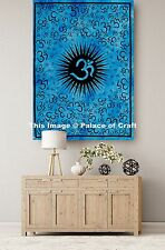 Om Mandala Throw Yoga Mat Wall Hanging Small Tapestry Indian Table Cloth Poster