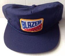 1980s CHEVY BLAZER BASEBALL CAP, BLUE, ADJUSTABLE LEATHER BAND, NEW  NOS VINTAGE