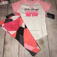 Under Armour 2T Girls Always Win Capri Outfit Set NEW