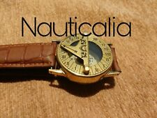 COMPASS MARINE 2'' VINTAGE BRASS SUNDIAL HAND WRIST WATCH NAVIGATION NAUTICAL