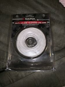RADIO SHACK 50 FT. (15.24M) TELEPHONE LINE CORD MODULAR.4-PIN (RJ-11/RJ-14)