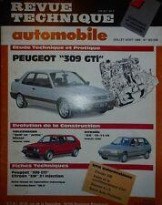 Revue technique PEUGEOT 309 GTI 1905 cm3 8S RTA 505 506 1989 + VW GOLF JETTA AX