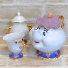 Japan 5320 Tokyo Disney Resort Beauty & the Beast Mrs. Potts & 1 cup 1 sugar pot