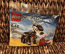 New Lego Creator Reindeer + Presents 77 Pieces Polybag Set 30474