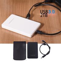 2.5 Inch 2TB External Drive USB 3.0/2.0 SATA HDD Enclosure Hard Disk Case HQ