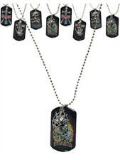 Gothic Dog Tags Dogtags Flaming Skull Vampire Slayer
