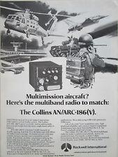 1/1980 PUB ROCKWELL COLLINS AVIONICS ARC-186 (V) VHF FM RADIO USAF ORIGINAL AD