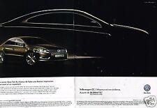 Publicité Advertising 2012 (2 pages) VW Volkswagen CC Carat Edition