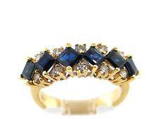 3.08 CT Natural Sapphire & Diamond Lady's Ring VS/H 14K Yellow Gold