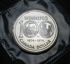 RCM - 1974 - Nickel Dollar - Winnipeg Centennial - PL - Sealed in original cello