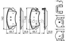 4x BOSCH Pastillas de Freno Delanteras Para OPEL INSIGNIA 0 986 494 609