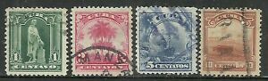 U.S. Possessions stamps scott 227, 228, 230, 231 re-engraved issues - #5