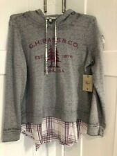 ~G.H. Bass & Co. Women Layered Sweatshirt L NWT~ MSR $79~