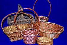 Lot of 6 Wicker Baskets in Assorted Sizes  M3408