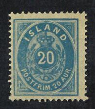 CKStamps: Iceland Stamps Collection Scott#17 Mint H OG Signed