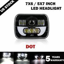 5X7/7X6'' LED Projector Headlight Hi/Lo Beam For Jeep Wrangler Cherokee XJ YJ US