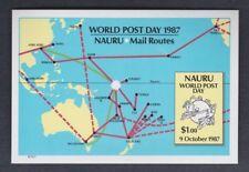 1987 Nauru Post Day SG MS 354 Imperf. MUH