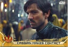 Star Wars Rogue One Series 2 Gold Base Card #7 Cassian Makes Contact