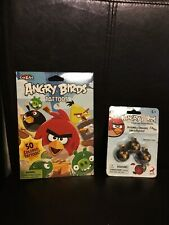 Angry Birds Collectible Puzzle Erasers Set Of 3 & Tattoos - New In Packages