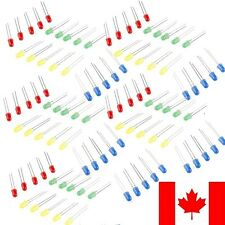100 Pack Assorted 5mm LED Red Green Blue Yellow 25 Each 100pcs Total CANADA