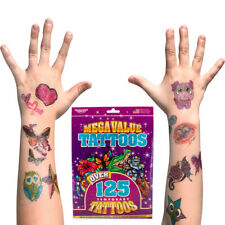 125+ Savvi Kids Temporary Tattoo Pack Assorted Tattoos Fun Designs Party Favors