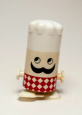 Mechanical Walking Chef Salt & pepper Shaker Plastic One Piece Set
