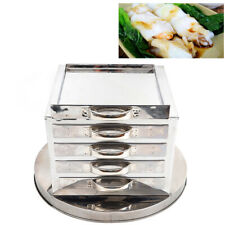 4 Layer Stainless Steel Steamer Cooker Rice Noodle Roll Changfen Steaming Tool