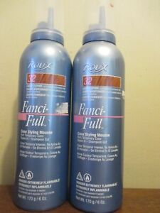 2x Roux Fanci-Full Color Styling Mousse 32 Lucky Copper Old stock Formula