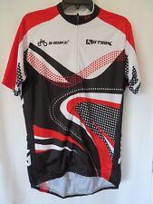 Inbike Cycling Jersey Set Short Sleeve Zip Front Padded Short Red Blk XXXL #7537