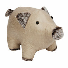 Door Stop Animal Fabric Heavy Weighted Novelty Beige Pig Doorstop Stopper Home
